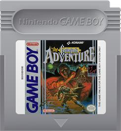Cartridge artwork for Castlevania: The Adventure on the Nintendo Game Boy.