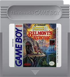 Cartridge artwork for Castlevania II: Belmont's Revenge on the Nintendo Game Boy.
