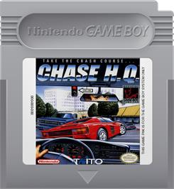 Cartridge artwork for Chase H.Q. on the Nintendo Game Boy.