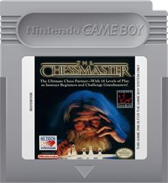 Cartridge artwork for Chessmaster on the Nintendo Game Boy.