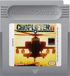 Cartridge artwork for Choplifter 2 on the Nintendo Game Boy.