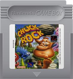 Cartridge artwork for Chuck Rock on the Nintendo Game Boy.