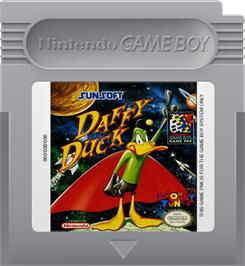 Cartridge artwork for Daffy Duck: The Marvin Missions on the Nintendo Game Boy.