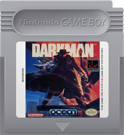 Cartridge artwork for Darkman on the Nintendo Game Boy.