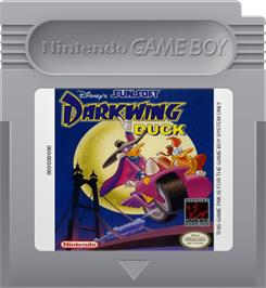 Cartridge artwork for Darkwing Duck on the Nintendo Game Boy.