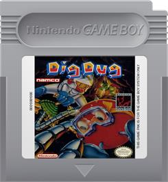 Cartridge artwork for Dig Dug on the Nintendo Game Boy.