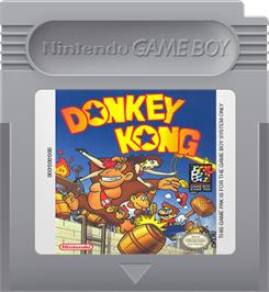 Cartridge artwork for Donkey Kong on the Nintendo Game Boy.