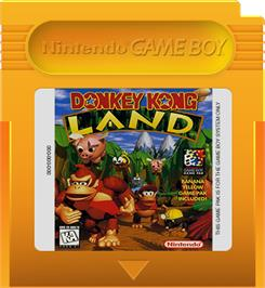 Cartridge artwork for Donkey Kong Land on the Nintendo Game Boy.