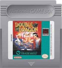Cartridge artwork for Double Dragon on the Nintendo Game Boy.