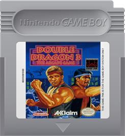 Cartridge artwork for Double Dragon 3 - The Rosetta Stone on the Nintendo Game Boy.
