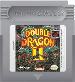 Cartridge artwork for Double Dragon II - The Revenge on the Nintendo Game Boy.