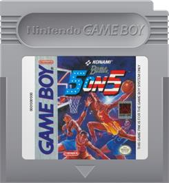 Cartridge artwork for Double Dribble: 5 on 5 on the Nintendo Game Boy.
