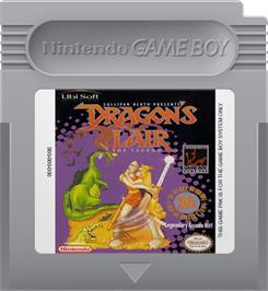 Cartridge artwork for Dragon's Lair - The Legend on the Nintendo Game Boy.