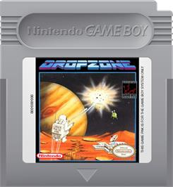Cartridge artwork for Dropzone on the Nintendo Game Boy.