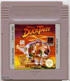 Cartridge artwork for Duck Tales on the Nintendo Game Boy.