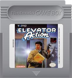 Cartridge artwork for Elevator Action on the Nintendo Game Boy.