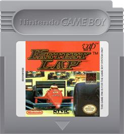 Cartridge artwork for Fastest Lap on the Nintendo Game Boy.