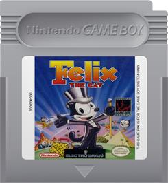 Cartridge artwork for Felix the Cat on the Nintendo Game Boy.