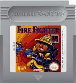 Cartridge artwork for Fire Fighter on the Nintendo Game Boy.