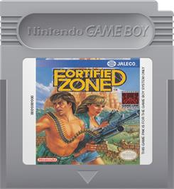 Cartridge artwork for Fortified Zone on the Nintendo Game Boy.