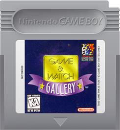 Cartridge artwork for Game & Watch Gallery on the Nintendo Game Boy.