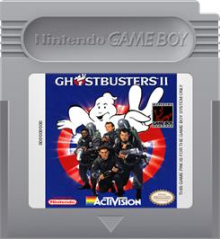 Cartridge artwork for Ghostbusters II on the Nintendo Game Boy.