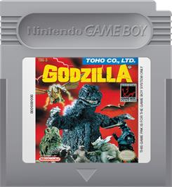 Cartridge artwork for Godzilla on the Nintendo Game Boy.
