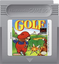 Cartridge artwork for Golf on the Nintendo Game Boy.