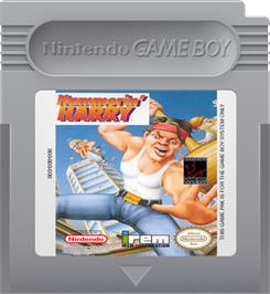 Cartridge artwork for Hammerin' Harry: Ghost Building Company on the Nintendo Game Boy.