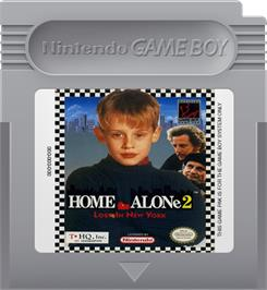 Cartridge artwork for Home Alone 2: Lost in New York on the Nintendo Game Boy.