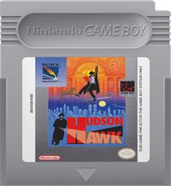 Cartridge artwork for Hudson Hawk on the Nintendo Game Boy.
