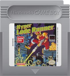 Cartridge artwork for Hyper Lode Runner on the Nintendo Game Boy.