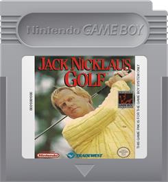 Cartridge artwork for Jack Nicklaus Golf on the Nintendo Game Boy.