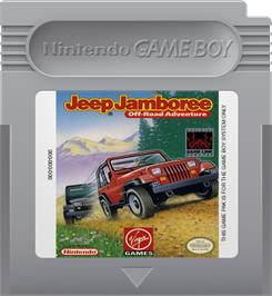 Cartridge artwork for Jeep Jamboree: Off Road Adventure on the Nintendo Game Boy.