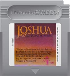 Cartridge artwork for Joshua & the Battle of Jericho on the Nintendo Game Boy.