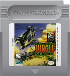 Cartridge artwork for Jungle Strike on the Nintendo Game Boy.
