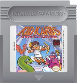 Cartridge artwork for Kid Icarus: Of Myths and Monsters on the Nintendo Game Boy.