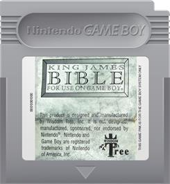 Cartridge artwork for King James Bible For Use On Game Boy on the Nintendo Game Boy.