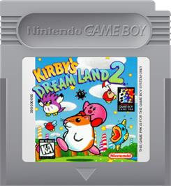 Cartridge artwork for Kirby's Dream Land 2 on the Nintendo Game Boy.
