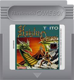 Cartridge artwork for Knight Quest on the Nintendo Game Boy.