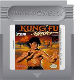 Cartridge artwork for Kung-Fu Master on the Nintendo Game Boy.