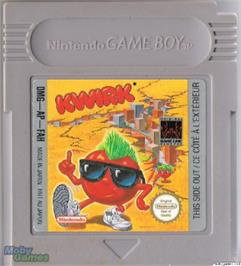 Cartridge artwork for Kwirk on the Nintendo Game Boy.