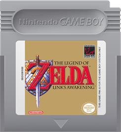 Cartridge artwork for Legend of Zelda: Link's Awakening on the Nintendo Game Boy.