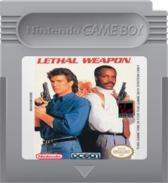 Cartridge artwork for Lethal Weapon on the Nintendo Game Boy.