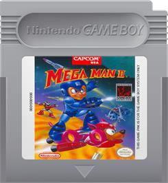 Cartridge artwork for Mega Man 2 on the Nintendo Game Boy.