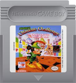 Cartridge artwork for Mickey's Ultimate Challenge on the Nintendo Game Boy.