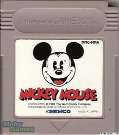 Cartridge artwork for Mickey Mouse on the Nintendo Game Boy.