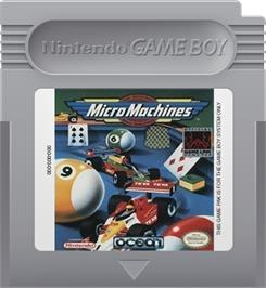 Cartridge artwork for Micro Machines on the Nintendo Game Boy.