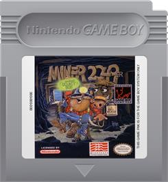 Cartridge artwork for Miner 2049er on the Nintendo Game Boy.