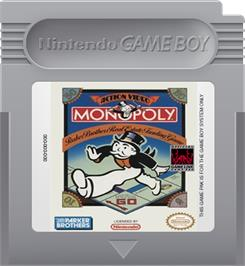 Cartridge artwork for Monopoly on the Nintendo Game Boy.